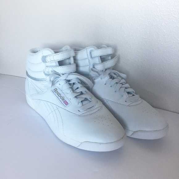 Reebok 80's vintage white high top velcro sneakers